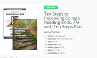 Ten Steps to Improving College Reading Skills /Ten Steps Plus