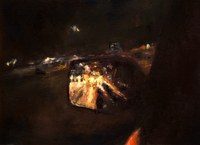 Driver Side Mirror @ Night